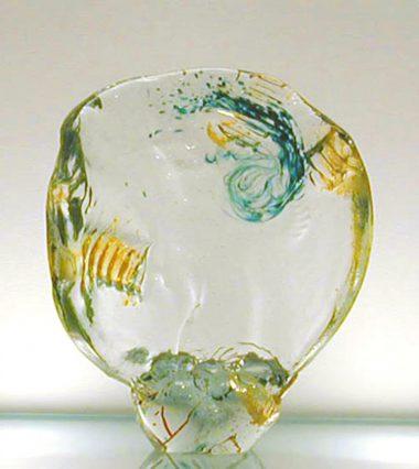Gene Koss, Disc Series #4. 2000, glass. 17 x 14 x 4 inches
