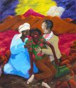 Robert Colescott - An American Rescued in the Desert by the Mahdi and Emperor Salessi