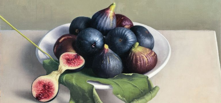 Still Life with Dark Figs