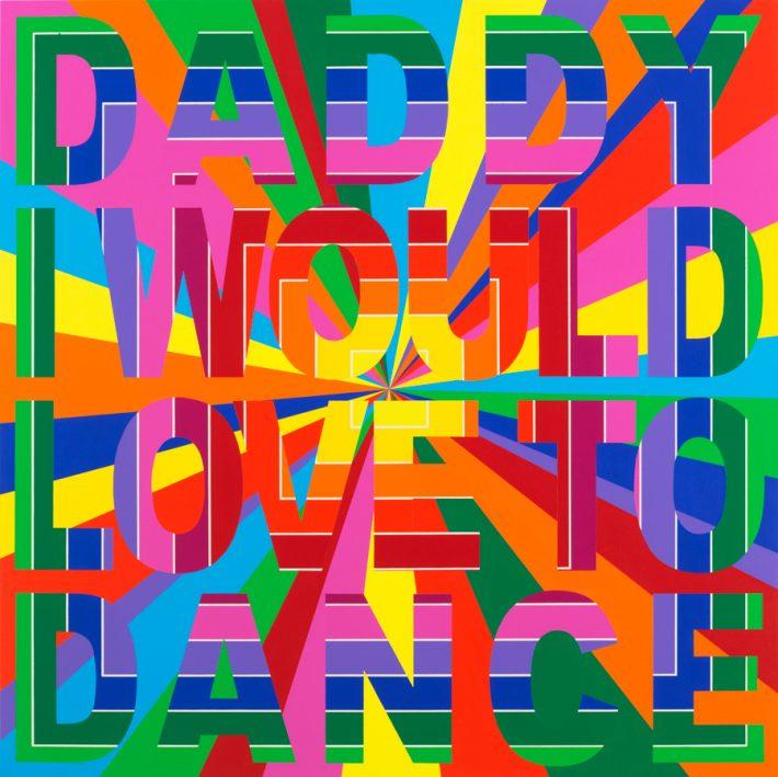 Deborah Kass Daddy, 2013, Acrylic on canvas, 46 x 46 inches