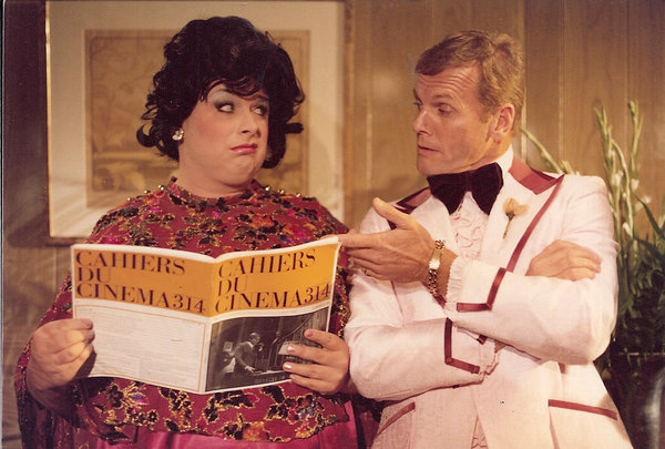 """Divine, Mr. Waters's longtime collaborator, with Tab Hunter in """"Polyester"""" (1981). Credit Larry Dean/New Line Cinema"""