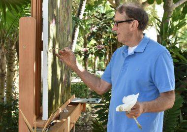 Artist John Alexander finds inspiration in the garden at Eaton Fine Art.