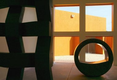 Granite sculptures by Jesús Moroles are featured in the Visual Arts Gallery of the Latino Cultural Center. [File 2003/Staff]