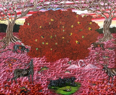 After the Rain (Methane), 2014-15   Oil on Belgian linen   54 x 65 ½ inches