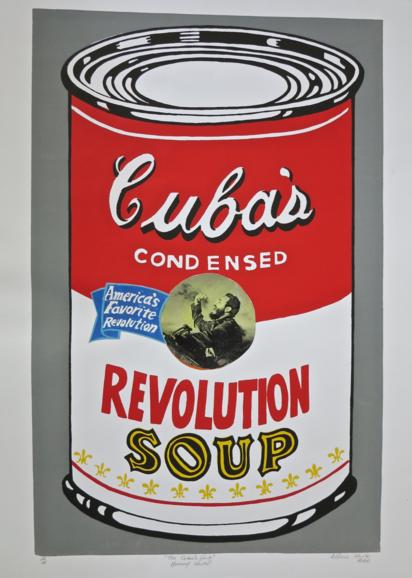 Alfredo Manzo Cedeño, The Cuba's Soup, Homage Warhol, Revolution (2003). Courtesy of MLA Gallery.