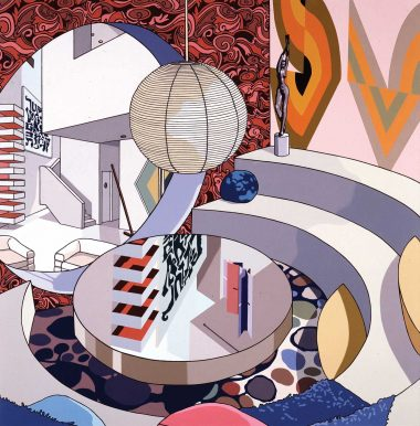 Modern Circles, 2007. Oil on linen, 54 x 53 inches.