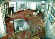 Painter's Floor with Open Door and Half-Open Window