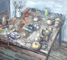 Still Life with Paint and Quinces (Balthus' Table)