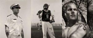 Edward Holton, Lacrosse player, USNA - Triptych