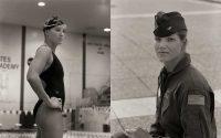 Robin Cadow, Swimmer, USAFA - Diptych