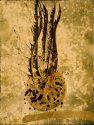 Burnished Bronze Ikebana Drawing