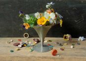 Flowers, Compote, and Buttons