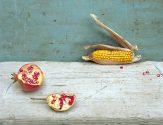 Pomegranate and Corn