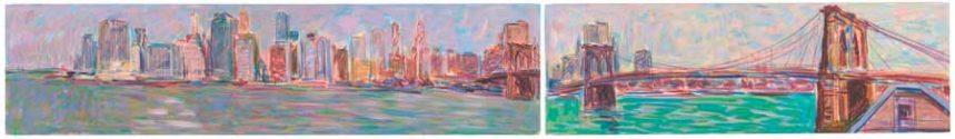 Manhattan and the Brookyn Bridge