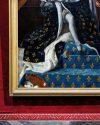 Salles XVIIIeme, Detail of portrait of Louis XIV, by Henri Testalin