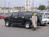 Mother with Hummer