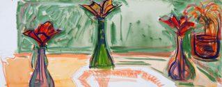 Untitled 13688 (Three flowers in Vases), n/d