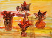 Untitled 13727 (Five Vases with Flowers), n/d