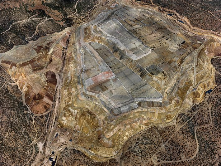 ABOVE AND BEYOND | Edward Burtynsky's Chino Mine #1 (2012), taken in Silver City, New Mexico, on view this fall at New York's Howard Greenberg Gallery Photo: © Edward Burtynsky, courtesy of Nicholas Metivier Gallery, Toronto/Howard Greenberg Gallery, and Bryce Wolkowitz Gallery, New York