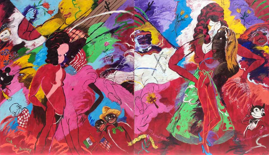 robert-colescott-pick-a-ninny-rose