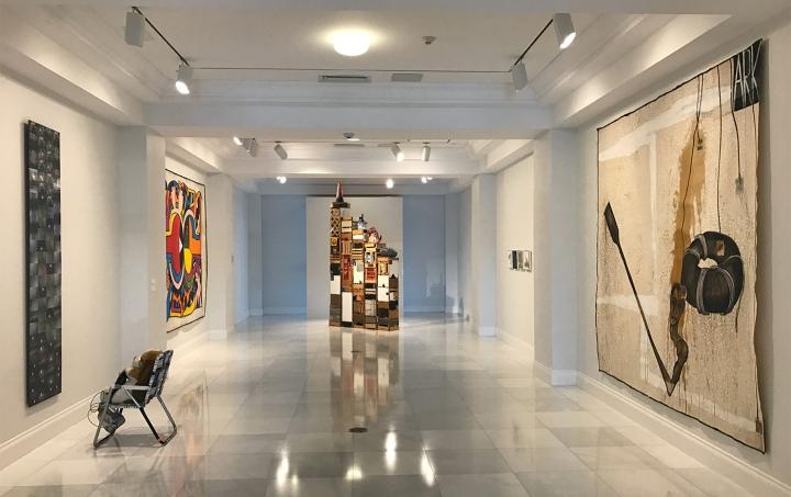 Installation view of Luis Cruz Azaceta: Dictators, Terrorism, War and Exiles at the American Museum of the Cuban Diaspora