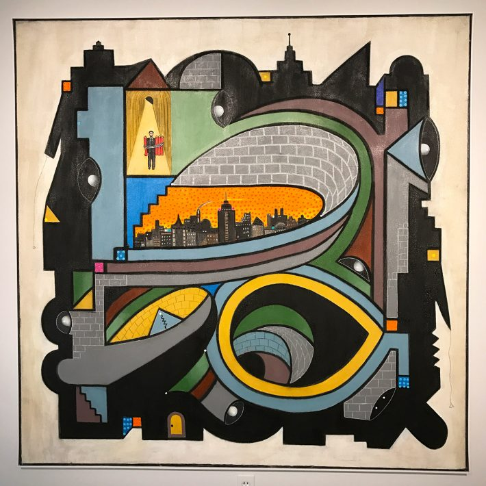 "Luis Cruz Azaceta, ""Terrorist II"" (2010), acrylic on canvas, 72 x 70 in"